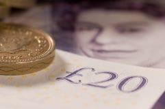 Englisches Geld Lizenzfreie Stockbilder
