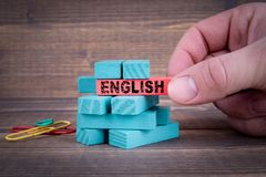 Englisches Geschäfts-und Bildungs-Konzept stockbilder