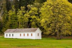Englisches Lager, Garrison Bay, San Juan Island National Historic Pa Lizenzfreies Stockbild