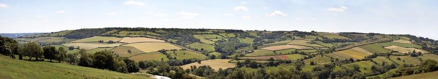 Englisches Landschaftpanorama Lizenzfreies Stockfoto