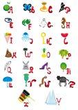 Englisches lebhaftes Alphabet Lizenzfreie Stockfotos