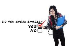 Englisches Lernen für Studenten lizenzfreie stockbilder