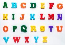 Englisches Spielzeugalphabet Stockfotos