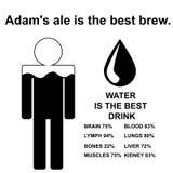 Englisches Sprichwort: Adams-Ale ist das beste Gebräu Stockbilder