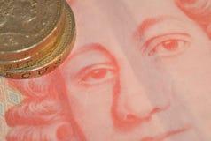 Englisches Sterlinggeld Stockbild