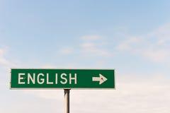 Englisches Zeichen Stockfoto