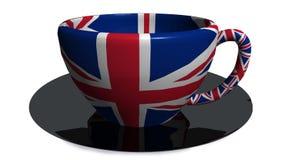 Englischgroßbritannien-Lebensmittelgetränktasse tee - Wiedergabe 3d Stockfoto