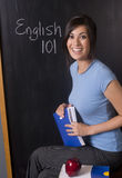Excited Teacher School Class English 101 Stock Image