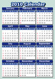 English 2010 calendar. English 2010 vector calendar. Week starts on Sunday. Easy to edit and apply Vector Illustration