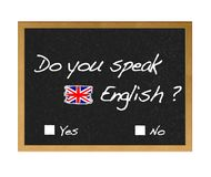 English. Royalty Free Stock Photo