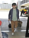 English actor Michael Sheen is seen at LAX Royalty Free Stock Image