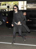 English actor Russel Brand at LAX airport Stock Photos