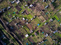 English allotments, aerial view Stock Images
