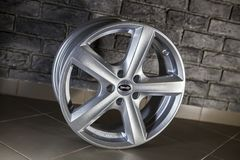 English alloy wheel Royalty Free Stock Photos