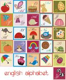 English alphabet. A colorful illustrated english alphabet Stock Photos