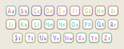 English alphabet Royalty Free Stock Images