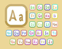 English alphabet Stock Photography