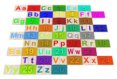 English alphabet Stock Photos
