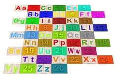 English alphabet Stock Photos