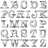 English alphabet. ABC. English letters are black on white. The Latin alphabet.   Royalty Free Stock Image
