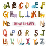 English alphabet with animals. Pictures for Stock Photo
