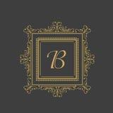 English Alphabet B for premium monogram. Royalty Free Stock Photography