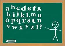 English alphabet on a blackboard. Stock Photos