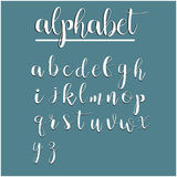 English alphabet calligraphy Stock Image