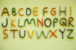 English alphabet Stock Photo