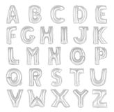 English alphabet chrome color Royalty Free Stock Image