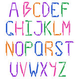 The English alphabet. Colorful bright design. Uppercase letters. Royalty Free Stock Photos