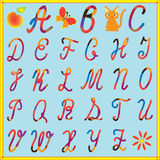 English alphabet  with colorful letters Royalty Free Stock Image