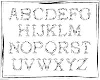 English alphabet cursive Royalty Free Stock Image
