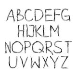 English alphabet cursive Stock Image