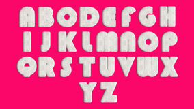 English alphabet ,design Style Fur or hair.  Vector Illustration