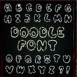 English alphabet in doodle style Stock Images
