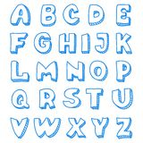 English alphabet in doodle style Stock Photography