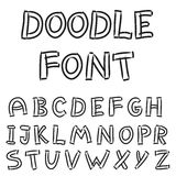 English alphabet in doodle style Royalty Free Stock Photography