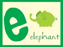English alphabet e, illustration Stock Photos