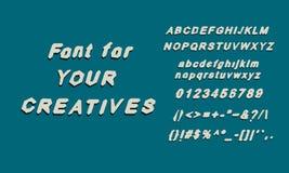 English alphabet font glyphs Stock Image