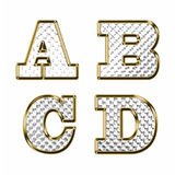 English alphabet gold vector illustration Royalty Free Stock Photo