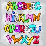 English alphabet in graffiti style. Vector illustration of English alphabet in graffiti style Royalty Free Stock Image