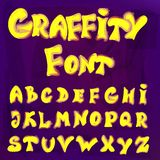 English alphabet in graffiti style. Vector illustration of English alphabet in graffiti style Royalty Free Stock Images