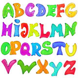 English alphabet in graffiti style Stock Images