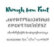 English alphabet handwritten vector script on white background. Informal handwriting Handwritten font with uppercase and royalty free illustration