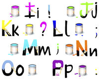 English alphabet I-P. Stock Photography