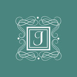 English Alphabet J for premium monogram. Royalty Free Stock Photo