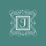 English Alphabet J for premium monogram. Royalty Free Stock Photo