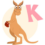 The English alphabet. Kangaroo Stock Image