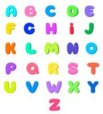 English alphabet for kids royalty free illustration